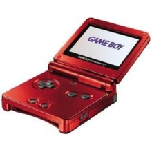 Game Boy Advance SP Model No. AGS-001 Rouge