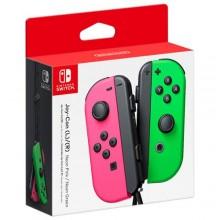 Manettes gauche et droite Joy-Con pour Nintendo Switch - Rose néon - Vert néon