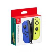 Manettes gauche et droite Joy-Con pour Nintendo Switch - Bleu - Jaune néon
