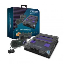 RetroN 2 HD Gaming Console For NES®/ Super NES®/ Super Famicom™(Clear Black) -