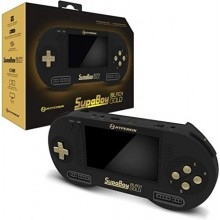 SupaBoy Black Gold Console de Poche Portable pour Super NES / Super Famicom